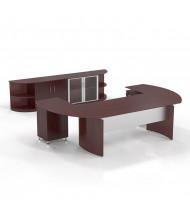 Mayline Medina MNT13 Executive Office Desk Set (Shown in Mahogany)