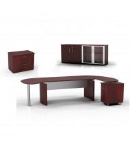 Mayline Medina MNT15 Executive Office Desk Set (Shown in Mahogany)