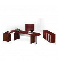 Mayline Medina MNT16 Executive Office Desk Set (Shown in Mahogany)