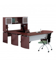 Mayline Medina MNT29 U-Shaped Executive Office Desk Set  (mahogany)