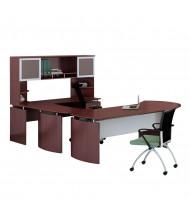 Mayline Medina MNT31 U-Shaped Executive Office Desk Set (mahogany)