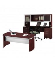 Mayline Medina MNT37 Executive Office Desk Set (Shown in Mahogany)