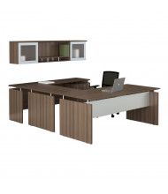 Mayline Medina MNT41 U-Shaped Executive Office Desk Set (Shown in Brown)