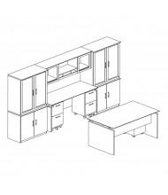 Mayline Medina MNT42 Executive Office Desk Set