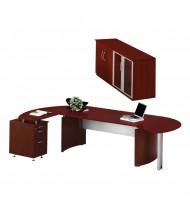Mayline Medina MNT8 Executive Office Desk Set (Shown in Mahogany)