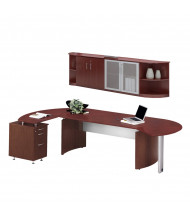 Mayline Medina MNT9 Executive Office Desk Set (Shown in Mahogany)