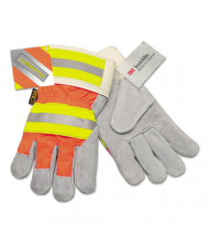 Memphis Luminator Reflective Gloves, Orange HiVis Stripe, Lime/Silver, X-Large, 12/Pair