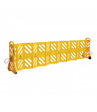 "Vestil 23"" to 138"" Long 40"" H Mobile Plastic Safety Barrier MSB-138"