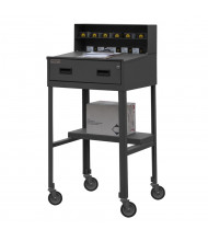 Durham Steel Drawer and Shelf Steel Mobile Shop Desk 500 lb Capacity