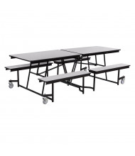 NPS Mobile Cafeteria Table with Benches, Grey Nebula (8 ft. model shown)