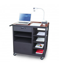 Marvel Vizion Presentation Cart (Shown in Cherry Top/Dark Neutral Base, Work Surface Accessory Not Included)