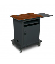 Marvel Vizion Bronze Teacher Workstation AV Cart (Shown in Cherry Top/Dark Neutral Base)
