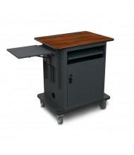 Marvel Vizion Copper Teacher Workstation AV Cart (Shown in Cherry Top/Dark Neutral Base)