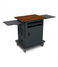 Marvel Vizion Gold Teacher Workstation AV Cart (Shown in Cherry Top/Dark Neutral Base)