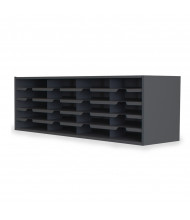 "Marvel 48"" W 20-Compartment Steel Mail Sorter (Shown In Black)"