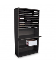 "Marvel 80"" H 30-Compartment Multifunction Steel Mail Sorter Cabinet (Shown In Black)"