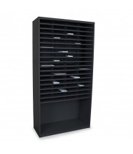 "Marvel 42"" W 72-Compartment Steel Mail Sorter (Shown In Black)"