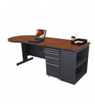 "Marvel Zapf ZTCB8730 87"" W Pedestal Teacher Desk (Shown In Cherry Top/Dark Neutral Base)"