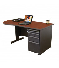 "Marvel Zapf ZTCD6030 60"" W Pedestal Teacher Desk (Shown In Cherry Top/Dark Neutral Base))"