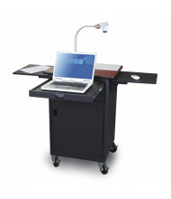 Marvel Vizion Teacher Workstation AV Cart, Metal Door (Shown in Cherry Top/Dark Neutral Base)