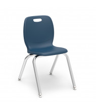 "Virco 16-1/2"" Seat Height 4-Leg Stacking School Chair"