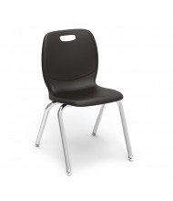"Virco Ergonomic 18"" Seat Height 4-Leg Stacking School Chair (black)"