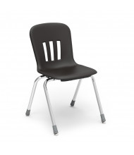 "Virco Metaphor 18"" Seat Height 4-Leg Stacking School Chair (black)"