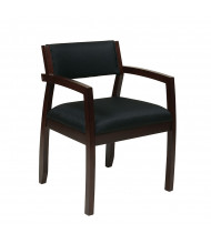 Office Star Napa Fabric Wood Mid-Back Guest Chair