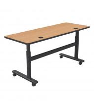 """Balt 60"""" W x 24"""" D Adjustable Nesting Flipper Training Table 90179 (Shown in Castle Oak)"""
