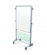 Ghent Nexus 3' x 4' Porcelain Magnetic Mobile Easel, Frosted