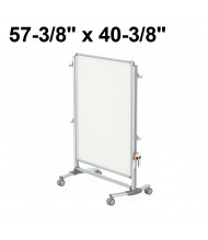 """Ghent Nexus Jr. Partition 57-3/8"""" x 40-3/8"""" Double-Sided Mobile Porcelain Magnetic Whiteboard"""
