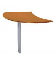 "Mayline Napoli NEXTR 47"" W Curved Desk Extention, Right (Shown in Golden Cherry)"