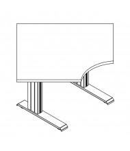 "RightAngle Eficiente Electric Adjustable 27"" - 47"" H Radius-Corner Table"