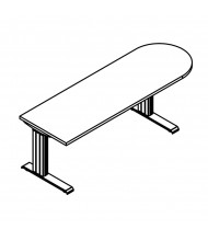 "RightAngle Eficiente Right-Radius Electric Adjustable 27"" - 47"" H Peninsula Table"