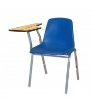 """NPS 11"""" x 23"""" Tablet Arm Student Chair Desk, Right-Hand (blue)"""