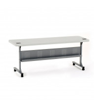 "NPS Flip-n-Store 72"" W x 24"" D Training Table, Speckled Grey"