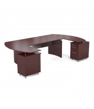"""Mayline Napoli NT3 63"""" W Executive Office Desk with Pedestals (Shown in Sierra Cherry)"""