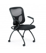 Eurotech Flip NT5000ARM Mesh-Back Fabric Nesting Folding Guest Chair