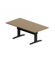 """RightAngle Elegante Rectangular Electric Adjustable 24"""" - 48"""" H Conference Table with Support Channel"""