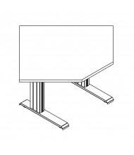 "RightAngle Elegante XT 24"" - 51"" H Electric Height Adjustable Corner Standing Desk"