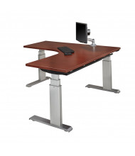 """RightAngle Elegante XT Electric 24"""" - 51"""" H L-Shaped Straight Front Height Adjustable Standing Desk, Left"""