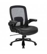 Office Star Pro-Line II 30180 Big & Tall 400 lb. Mesh-Back Leather High-Back Executive Office Chair