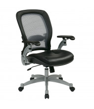Office Star Space Seating Professional Light AirGrid Mesh-Back Leather Mid-Back Managers Chair