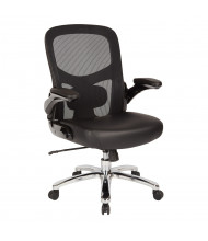 Office Star Pro-Line II Big & Tall 400 lb. Mesh-Back Leather Mid-Back Executive Office Chair (Shown in Silver)