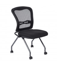 Office Star Pro-Line II Deluxe ProGrid Mesh-Back Fabric Armless Nesting Guest Chair, 2-Pack