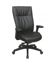 Office Star Space Seating Contemporary Leather High-Back Executive Office Chair