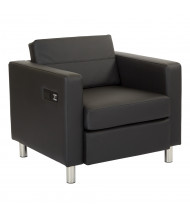 Office Star Work Smart Atlantic ATL51 Dillon Fabric Low-Back Club Chair (Shown in Black)