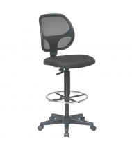 Office Star Work Smart Deluxe Mesh-Back Fabric Drafting Chair, Footring