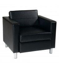 Office Star Work Smart Pacific PAC51 Vinyl Low-Back Club Chair (Shown in Black)