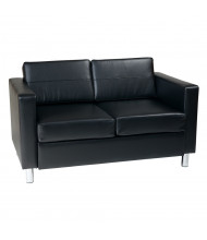Office Star Work Smart Pacific PAC52 Vinyl Low-Back Loveseat (Shown in Black)